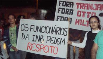 I Trabalhadores da INB – URA paralisam as atividades em Caetité – BA